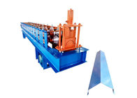 PPGI Steel Roofing Ridge Cap Roll Forming Machine With Hand Touch PLC Program