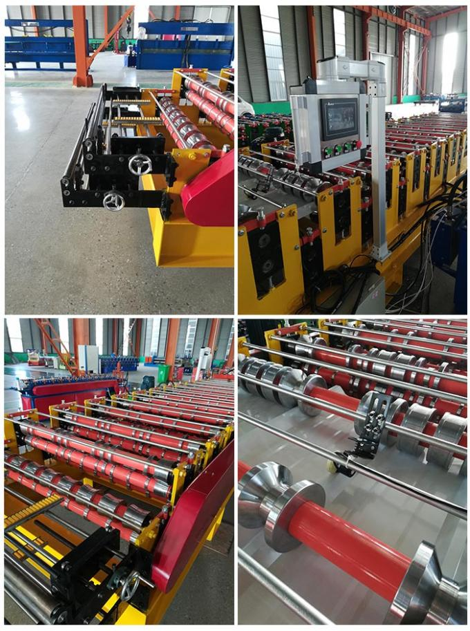 Roofing And Wall Sheet Double Layer Roll Forming Machine With Digital Control