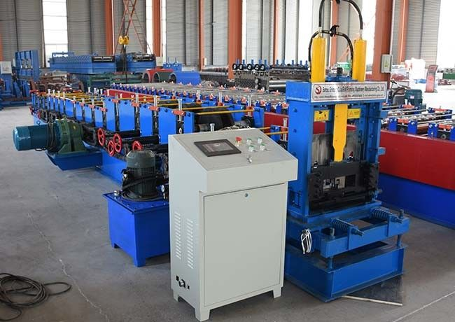 Cold Steel C And Z Purlin Machine , Profile Rolling Shutter Strip Making Machine