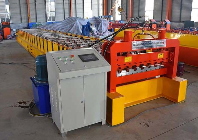 23 Rows Floor Deck Roll Forming Machine Customized Length Effective Width 720mm