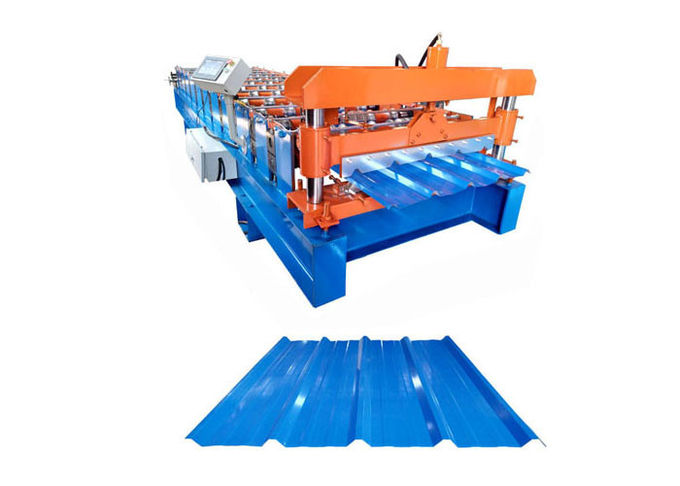 4 Kw Wall Panel Roll Forming Machine , Metal Roof Roll Forming Machine Weight 3 Tons