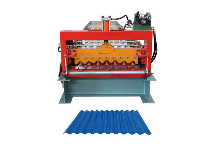 Coil Width 1000mm Corrugated Sheet Roll Forming Machine For Roof Panel Sheet Making