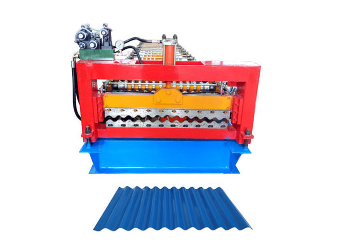PLC Program Corrugated Roof Sheet Making Machine Automatic Producing With Hand Touch Screen