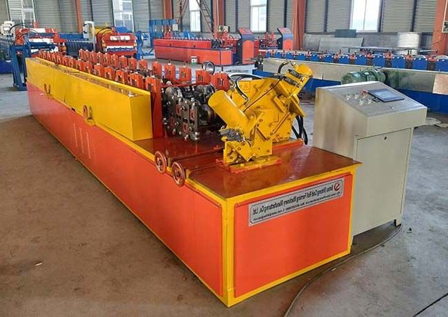 Metal Frame Light Steel Keel Roll Forming Machine Stud And Track / Furring C Shape Type