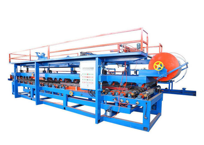 Power 32 Kw Steel Pu Sandwich Panel Machine , Pu Sandwich Panel Production Line