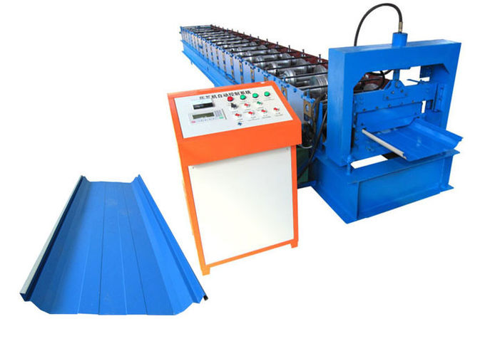 Easy Install Standing Seam Roll Forming Machine Size 7.6*1.4*1.5m With Hydraulic System