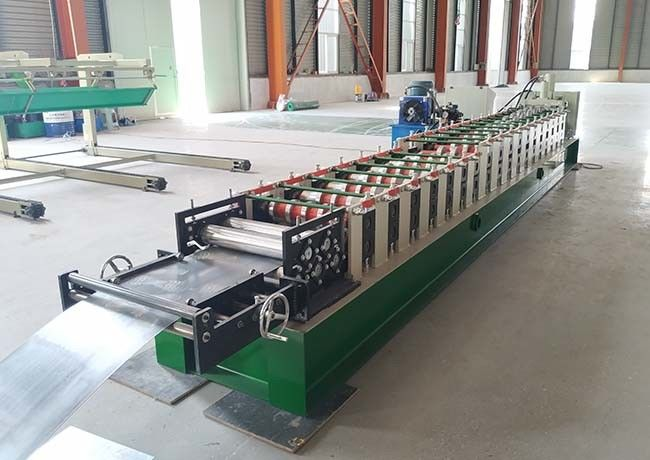 A/C Motor Downspout Roll Forming Machine , Gutter Bending Machine For Drainage System