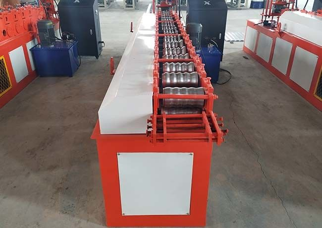 Garage Roller Shutter Door Roll Forming Machine 12 Rows Rollers Customized Color