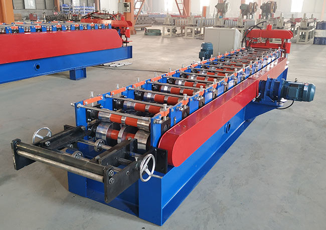 Metal Roof Ridge Cap Roll Forming Machine Sidewall 16mm Connect Bar 25mm