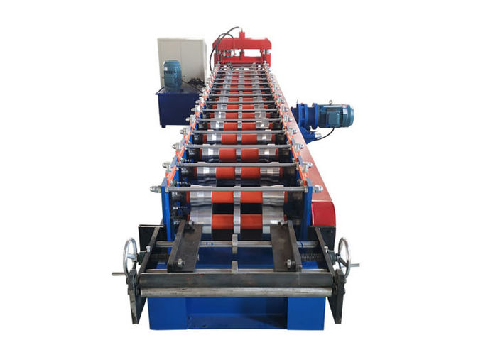 Customized Color Ridge Cap Roll Forming Machine Thickness 0.3-0.7mm Decoiler Width 500mm